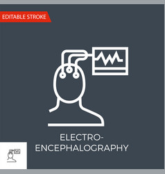 electroencephalography icon vector image