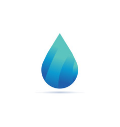 elegant gradient water drop template vector image