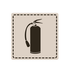 Emblem sticker extinguisher icon vector