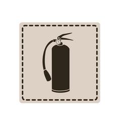 emblem sticker extinguisher icon vector image