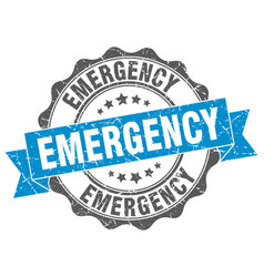 Emergency stamp sign seal vector