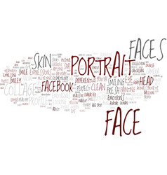 Face word cloud concept vector
