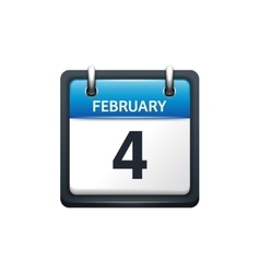 february calendar icon flat vector image