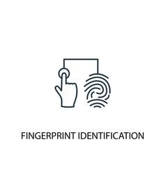 Fingerprint identification concept line icon vector
