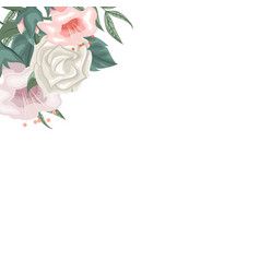frame of roses and tulips for dedication vector image