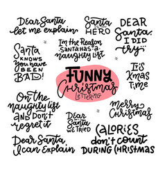 funny christmas stickers set for sarcastic social vector image