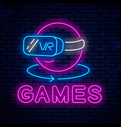 games with glasses virtual reality vector image