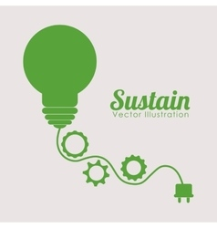 Go green design vector image