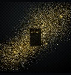 Gold glitter confetti explosion on black vector