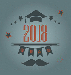 graduation of year 2018 vector image
