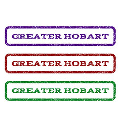Greater hobart watermark stamp vector