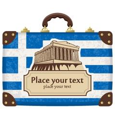Greece and acropolis vector