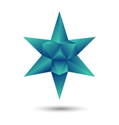 green geometric star vector image