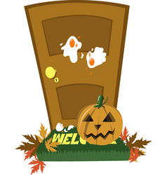 Halloween door vector