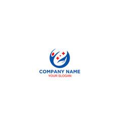 help fast medical logo design vector image