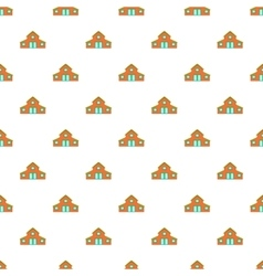 House pattern cartoon style vector image