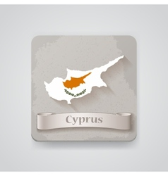 Icon of Cyprus map with flag vector image