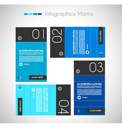 Infographic design template with paper tags I vector image