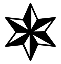Isolated striped star design vector