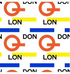 london city pattern vector image