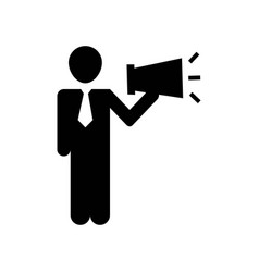 man talking by a speaker icon icon simple element vector image