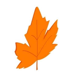 Maple leaf icon isometric 3d style vector image