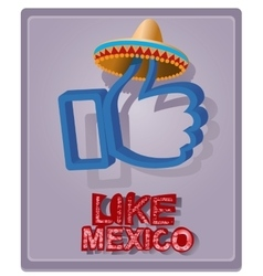 Mexican style in a sombrero vector image