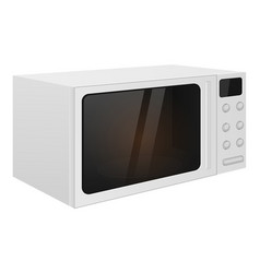 Microwave oven 3d isolated on vector