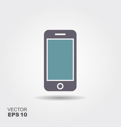 mobile icon in flat style isolated on grey vector image