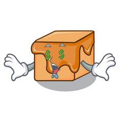 money eye caramel candies mascot cartoon vector image