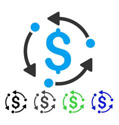 Money rotation flat icon vector