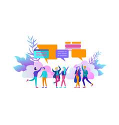 Online language courses distance education vector
