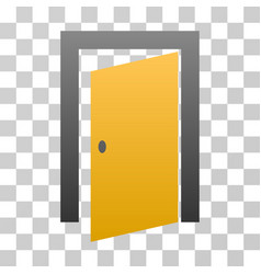 Open door gradient icon vector