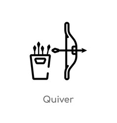 Outline quiver icon isolated black simple line vector