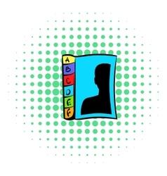 Phone book icon comics style vector
