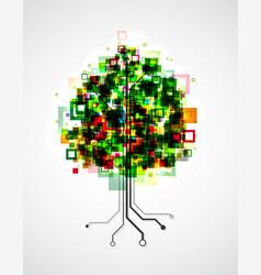 pixel tree vector image