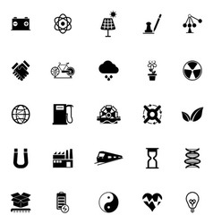 Renewable energy icons on white background vector