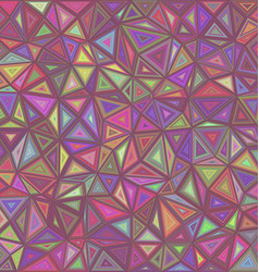Retro triangle mosaic tile background vector