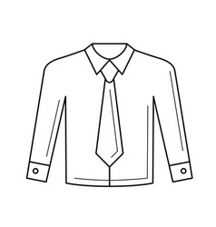 Shirt with necktie line icon vector