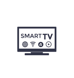 Smart tv icon on white vector