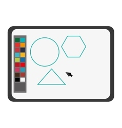 Software draw colors drawing icon vector