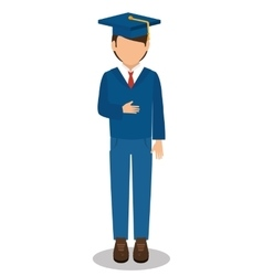student graduated avatar isolated vector image