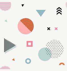 trendy geometric memphis seamless pattern vector image