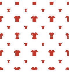 Tshirt icons pattern seamless white background vector