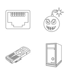 Virus system unit and other components personal vector