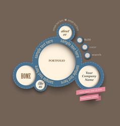 web design bubbles vintage style vector image