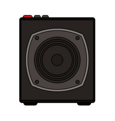 White background with portable loudspeaker vector
