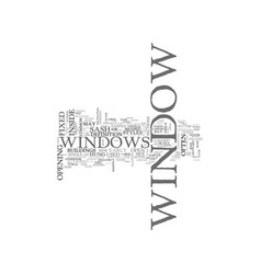 Window styles text word cloud concept vector