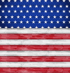 Wooden American Flag for Independence Day vector image