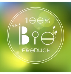 blurred nature background with eco label of vector image